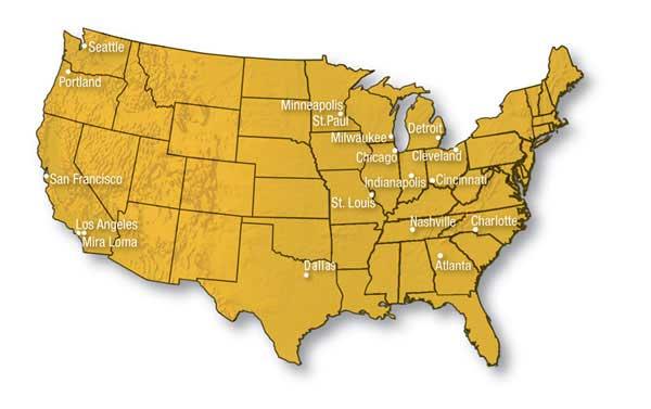 USA Terminals RDFS Map